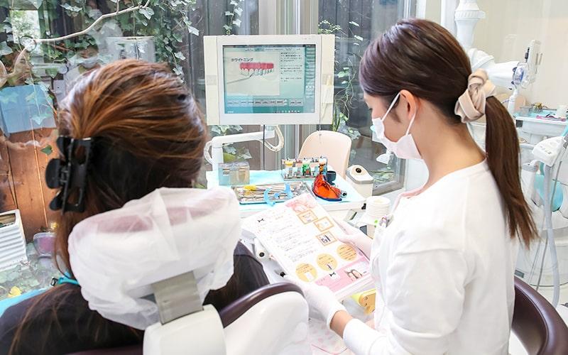 清誠歯科のオフィスホワイトニング|カウンセリングの様子